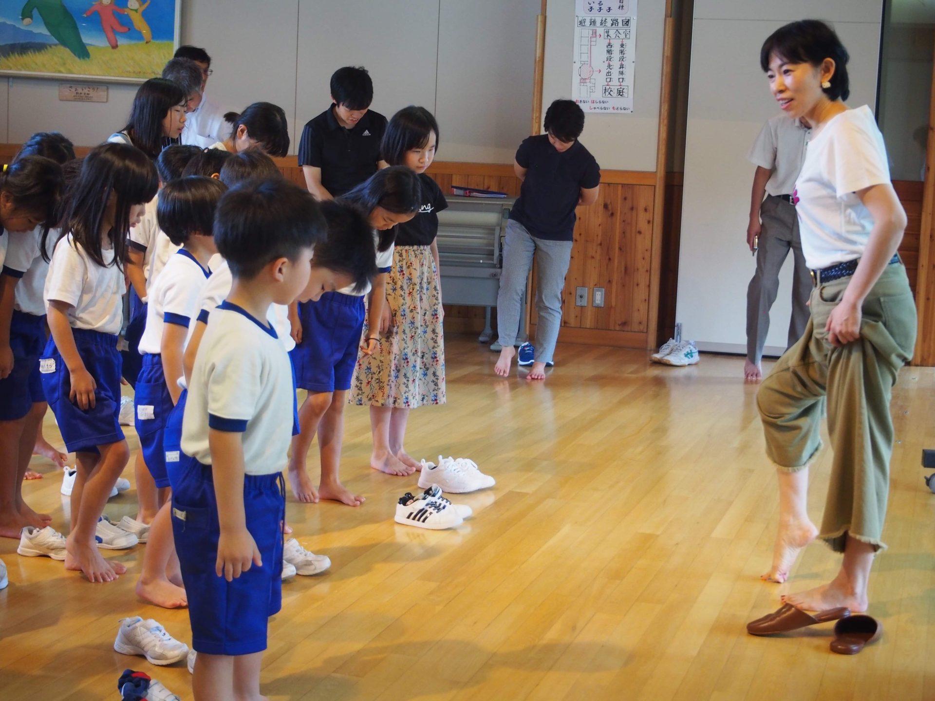 image-足裏講演会@筑北小学校   オーダーインソールのクイスクイス